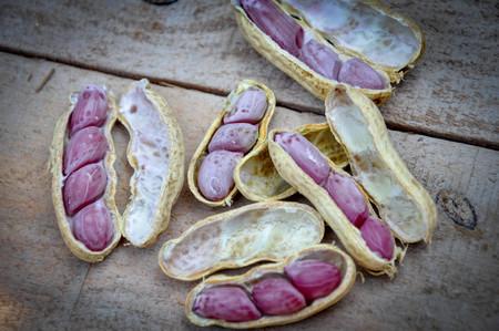 edibles: Boiled peanuts Stock Photo