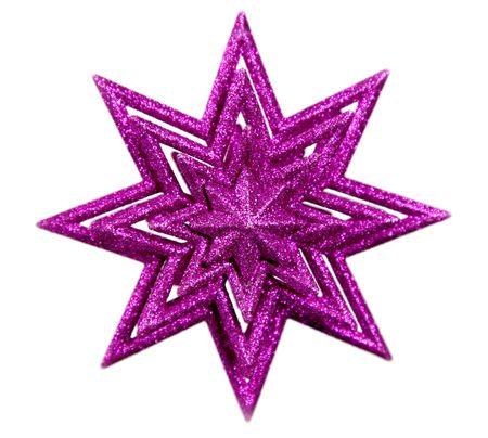Estrella púrpura aislada sobre blanco