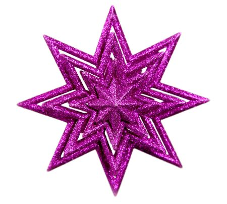 pointy: Isolated purple star on white