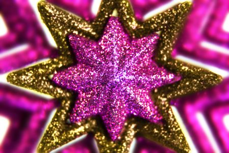 macro of a purple and gold christmas decoration stock photo picture and royalty free image image 5905747