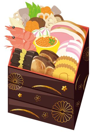 osechiJapan / New Year Dishes 일러스트