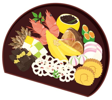 One plate Japanese New Year dishes / osechi