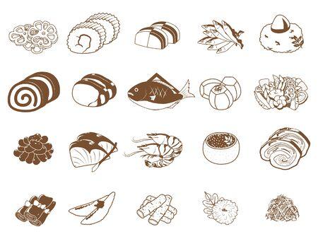 Osechi set, Osechi Japanese New Year dishes