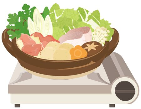 Chanko-nabe : Pots weald in the sumo stable / Japanese food