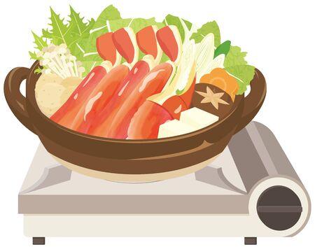 Crab suki : crab hot pot/Japanese food