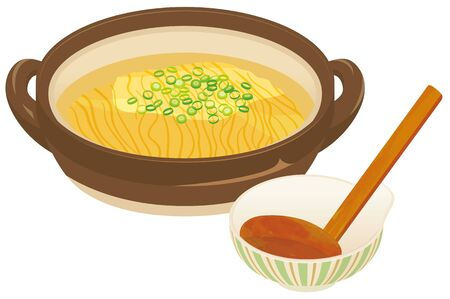 Japanese hot pot and Chinese noodles.  Japanese food