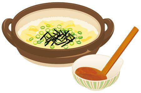 Zousui : Japanese risotto soup. Фото со стока - 139279871