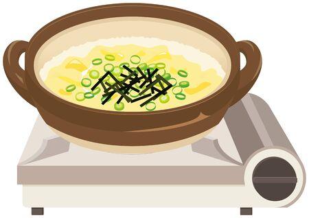 Zousui : Japanese risotto soup. Фото со стока - 138971236
