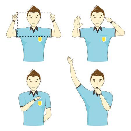 Football Referee Gesture Set: Upper Body