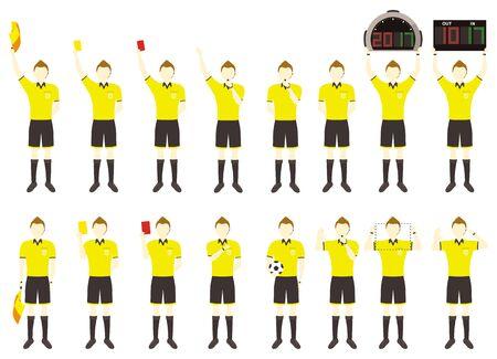 Simple football men referee set