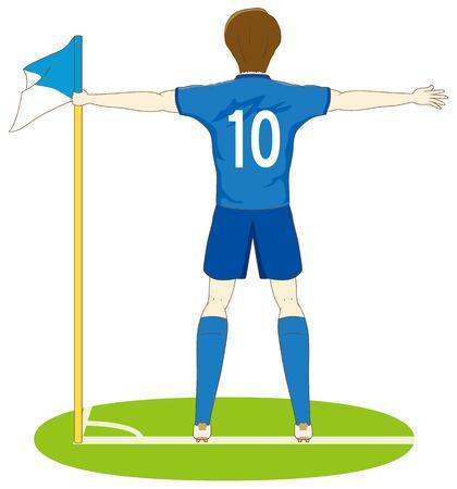 Football player doing goal performance
