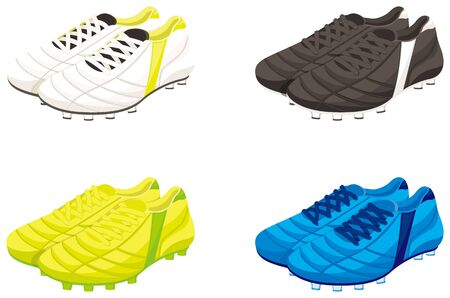 Football (soccer) spike cleats. illustration Vector