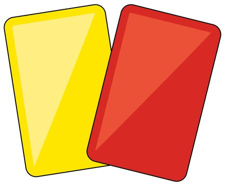 Yellow card and red card set 일러스트