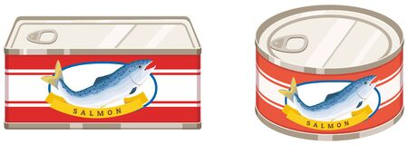 Canned salmon. Can store food for a long time.