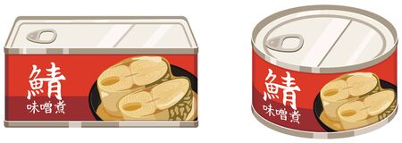 Canned miso boiled mackerel.