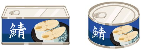 Boiled can of mackerel.