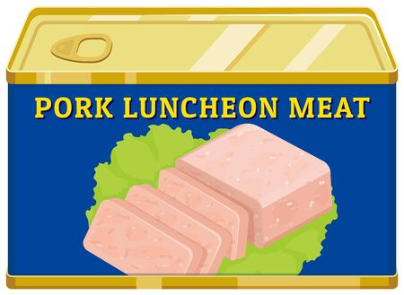 Pork day meat. Can store food for a long time.  イラスト・ベクター素材