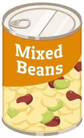 Canned mixed beans. Can store food for a long time.