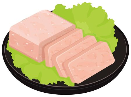 Pork day meat. illustration Vector