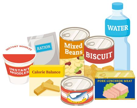 Emergency food set for disasters and natural disasters