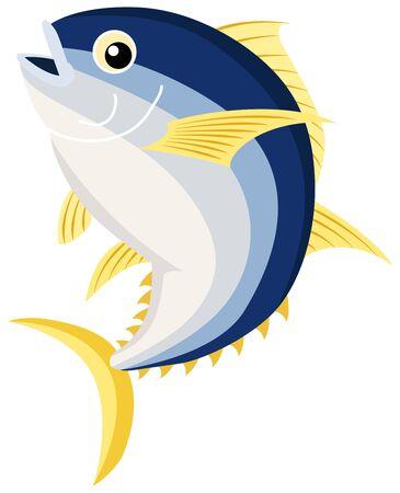 Fresh tuna jumping. illustration Vector