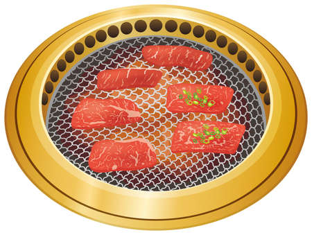 Grilled meat and smokeless roaster