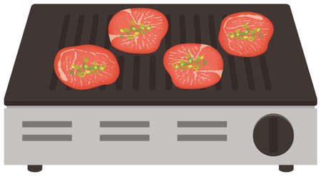 Grilled Beef Tongue Roaster illustration