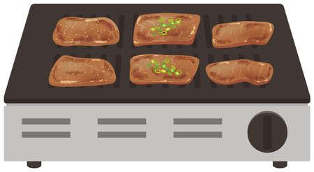 BBQ roaster illustration