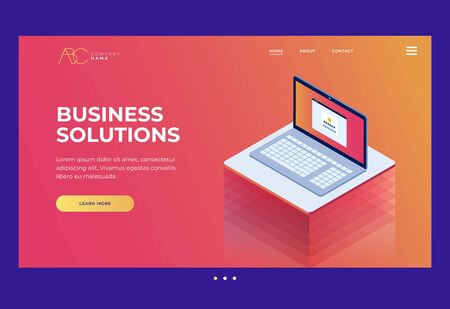 Homepage. Internet industry. Data transmission technology and data protection. Illustration of network telecommunications server. Protection of your personal information. 3d isometric flat design.