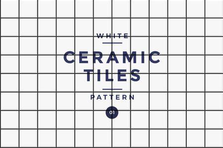 Tiles for cladding. White ceramic mosaic pattern of rectangular shape. Vector drawing. Illusztráció