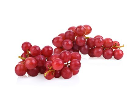 Grape red isolated on white background. Foto de archivo