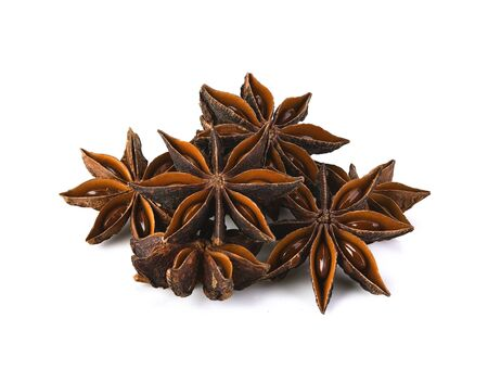 Star Anise in white background