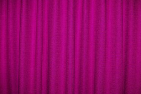 Close view of a pink curtain  photo