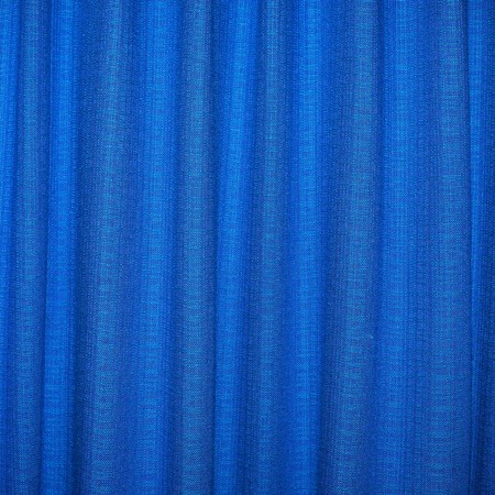 Close view of a blue curtain