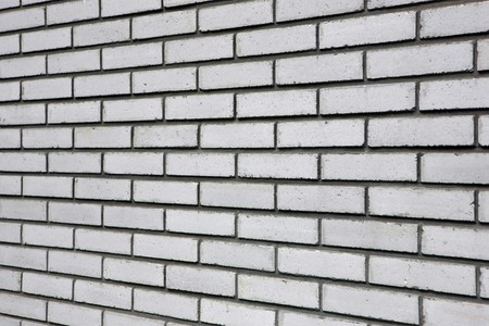 Close view of a white brick wall