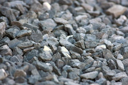 Close view of a gravel surface with focus in the center