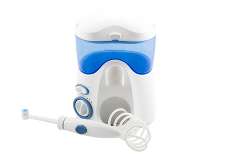 irrigator: irrigator for oral man on a white background