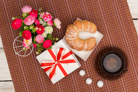 pledge: Send a gift to breakfast, a top view Stock Photo