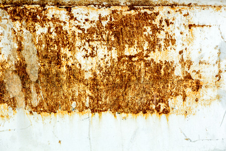 rust covered: texture of metal sheet covered with rust, copyspace Stock Photo