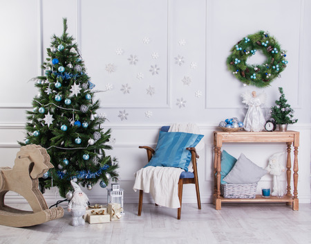 Het interieur van het nieuwe jaar en kerststijl