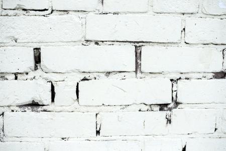 白いレンガの壁のテクスチャ