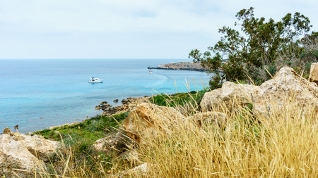 Park Cavo Greco in Ayia Napa overlooking Sea. Cyprus