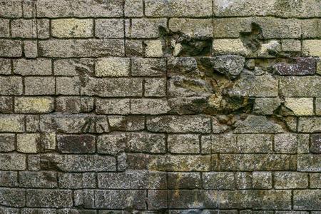 古いレンガのレンガ壁の質感