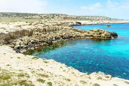 Blue beach coast in Ayia Napa