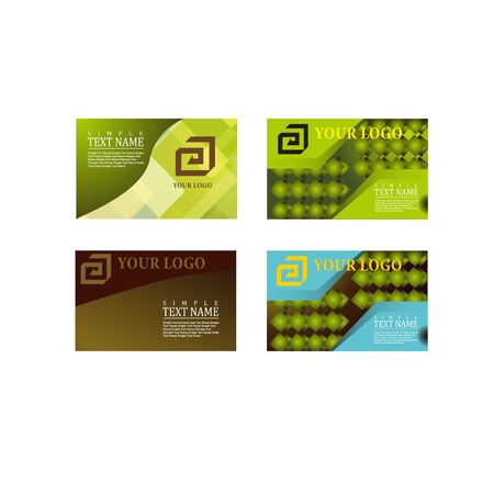 Design a set of business cards Banque d'images - 130095761