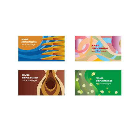 Design a set of business cards Banque d'images - 130095757