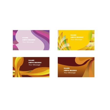 Design a set of business cards Banque d'images - 130095764