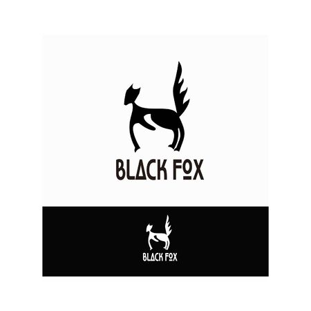 Black Fox logo is suitable for business and web logos