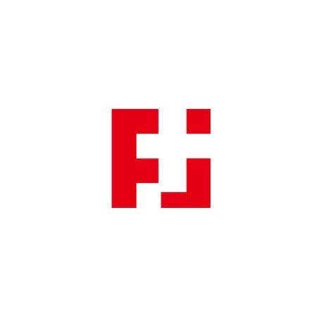 F i Logo geometric abstract text