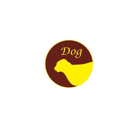 dog head silhouette illustration for business or web logos